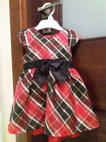 Śliczne sukieneczki dla dziewczynki / bliźniaczek na święta r.74