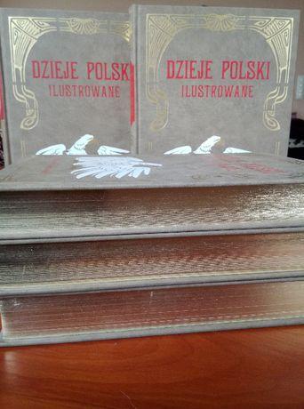 Dzieje Polski ilustrowane A.Sokołowski komplet 6 tomów