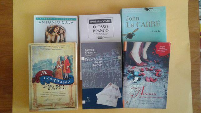 Vários livros: Fiel Jardineiro, A conspiração de papel, etc