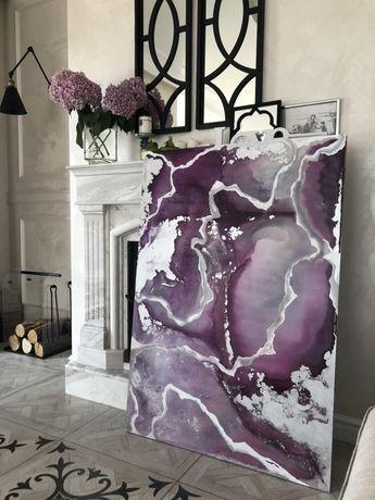 Интерьерная абстракция акрилом, картина маслом акрилом абстракция