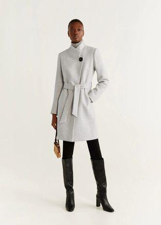 Płaszcz szary wełna MANGO 38 M