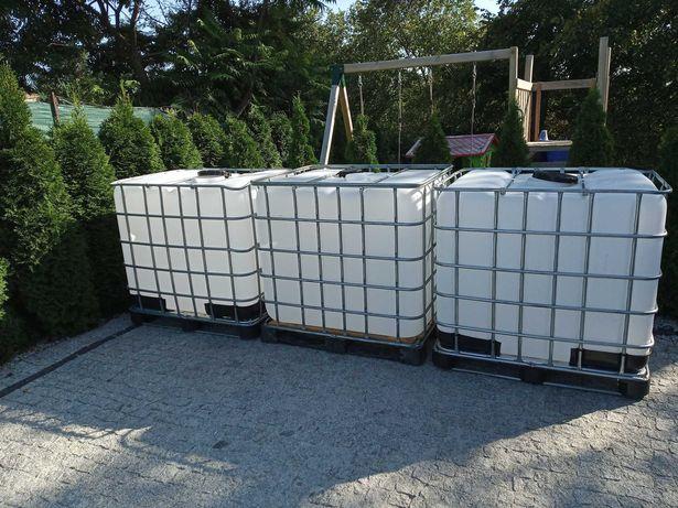 zbiornik pojemnik 1000 litrów Mauzer beczka baniak CZYSTY woda PALIWO