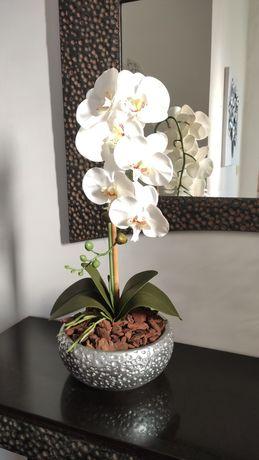 Vaso com 2 orquídeas artificiais