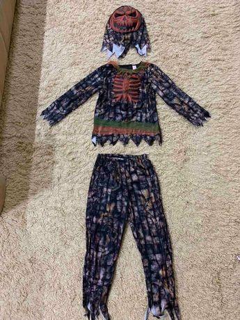 Костюм скелет на Хеллоуин, Джокер, арлекин, тыква, монстр на9-10лет