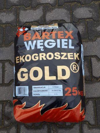 Węgiel Ekogroszek BARTEX Gold 27-29 MJ/kg worki 25kg, PROMOCJA