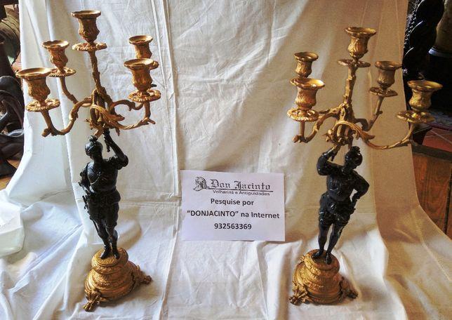 Par Candelabros 5 Lumes Bronze 2