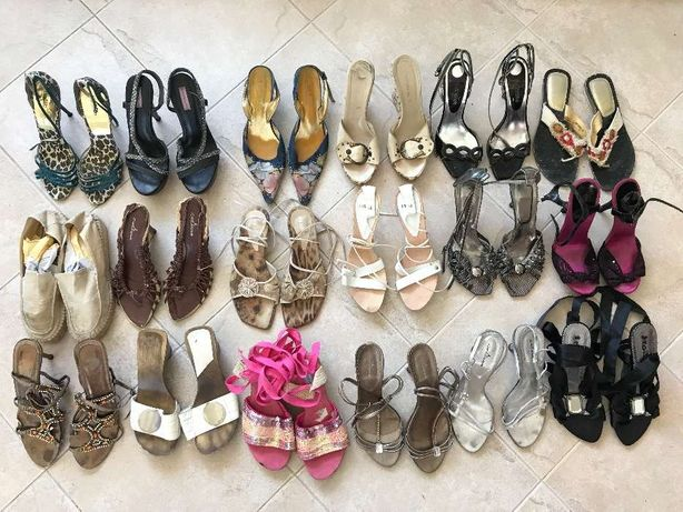 Lote de sandálias de senhora várias marcas tamanho 38