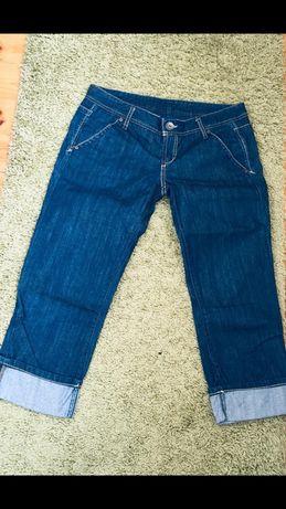 Beneton Италия новые джинсовые брюки кюлоты бриджи размер М