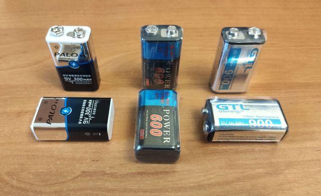Ni-MH аккумулятор Крона 6F22 9V 300/600/900 mAh