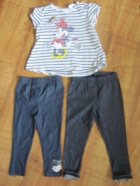 Legginsy 2szt. +bluzeczka dla dziewczynki 18-24 m