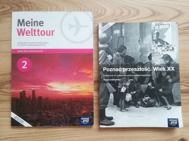 Podręczniki do technikum/liceum Poznać przeszłość i Meine Welttour 2