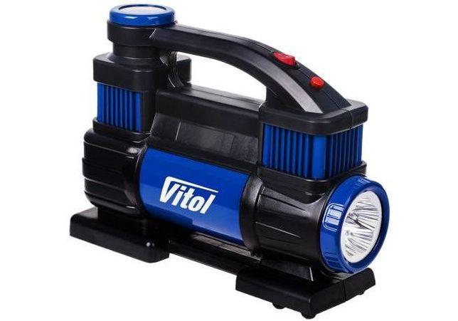 Автомобильный компрессор Vitol K-70 150psi/23Amp/90л/2 цилиндра