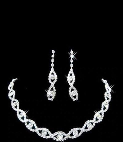 Biżuteria ślubna + spinka do włosów
