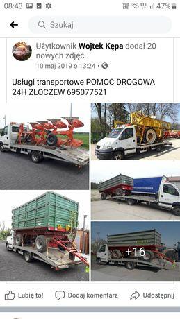 Złoczew Lututów laweta sieradz Wieluń transport maszyn pomoc drogowa