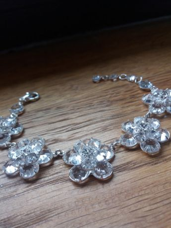 Biżuteria ślubna bransoletka ,kolczyki ozdoba do włosów