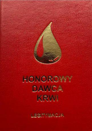 Legitymacja książeczka Honorowego Dawcy Krwi