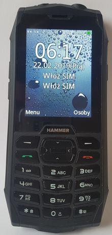 MyPhone Hammer 4, IP68, Dual SIM, stan idealny - fabryczna folia