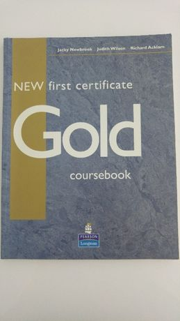 New first ceritifcare gold podręczni j ang