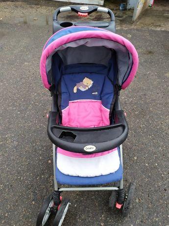 Коляска детская сине-розовая