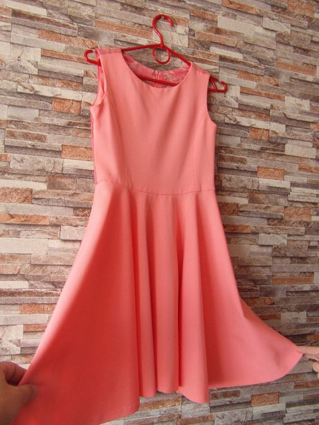 Sukienka na uroczystość róż/łosoś- 10-12 lat