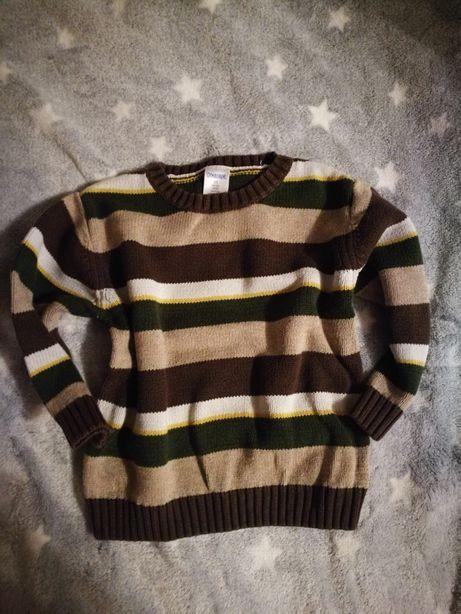 Sweterek w paski dla chłopca r.92