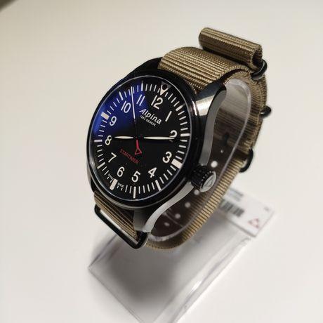 Szwajcarski zegarek Alpina Startimer Pilot. Szafir, WR 100m.