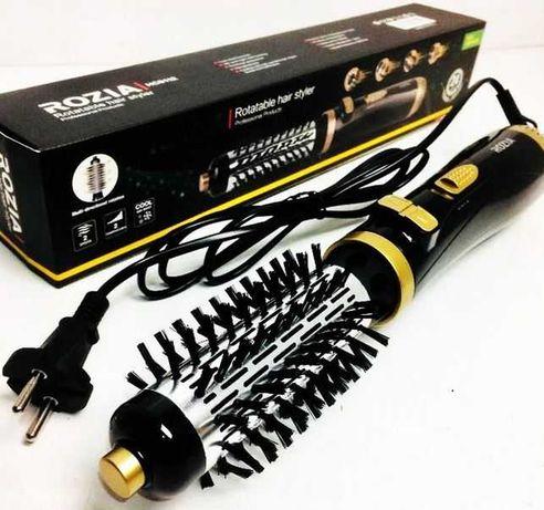 Фен щетка вращающаяся расческа стайлер Rozia HC-8112 браш для волос