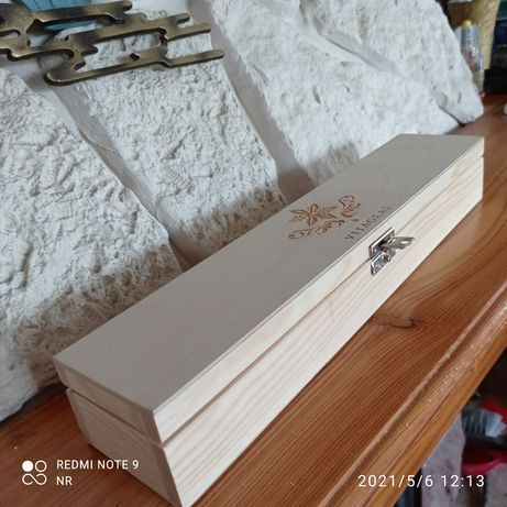 Pudełko na świecę / drewniane/