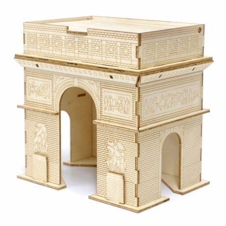 """Детский конструктор из дерева 3Д пазл """"Триумфальная арка"""""""
