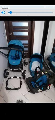 Wózek 3w1 graco niebieski