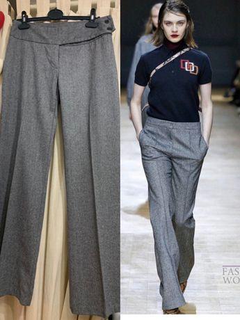 Шерстяные  брюки палаццо от Benetton