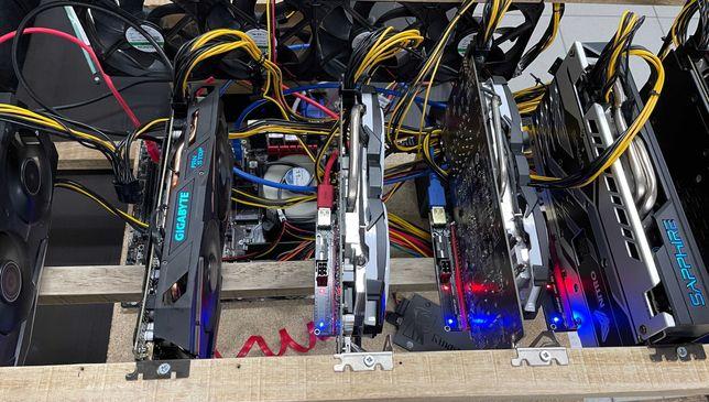 Rig Mining / Mineração / 197 Mhs - RX 580×3 · RX 570×2 · RX 480×1