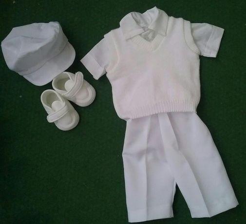 Komplet ubranko do chrztu, na chrzest dla chłopca rozm.62