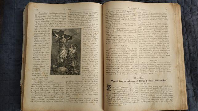 """Księga książka """"Żywoty Świętych Pańskich""""- 1907 rok"""