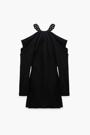 Zara Sukienka z łańcuchem M limitowana edycja