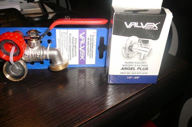 ,kurek kulowy Valvex czerpalny , kątowy