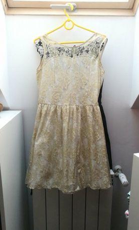 Sukienka  złota S/M