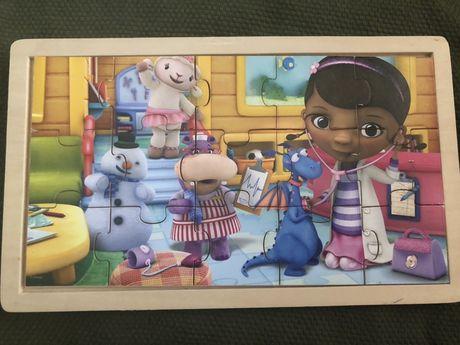 Drewniane puzzle dla maluszka