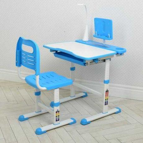 Стол-парта трансформер для дома,Голубая