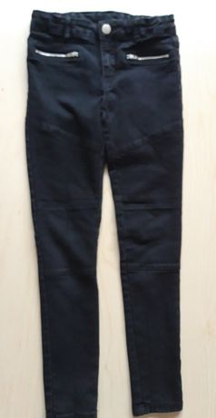 Spodnie czarne jeansy 140 cm 10 lat