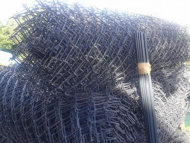 Siatka 150 cm. 1,5 m. powlekana grafitowa antracyt oczko 55x55