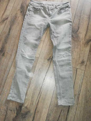 Spodnie jeansowe siwe