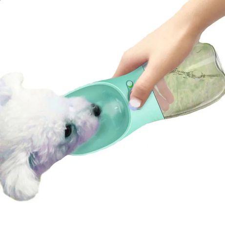 (PROMOÇÃO) Garrafa Água Cão / Gato 350ml em Rosa / Azul