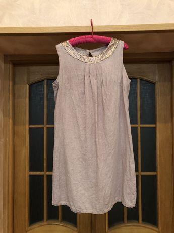 Новое итальянское льняное 100% платье 46-48р ELEMENT OF JOY Италия