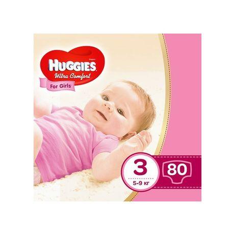 Подгузники Huggies Ultra Comfort 3 (5-9 кг) 80 шт., для девочек