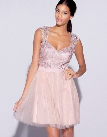 Платье . Пудрового цвета. Нарядное . Новое . Размер M