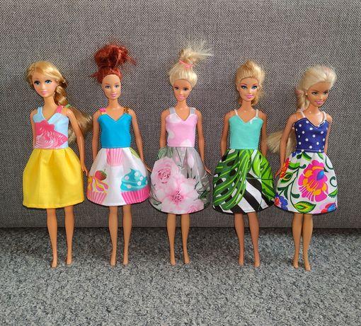 Zestaw 5x Nowa sukienka dla Lalki Barbie / ubranka ciuszki