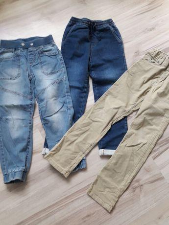 Spodnie jeans 128 zestaw