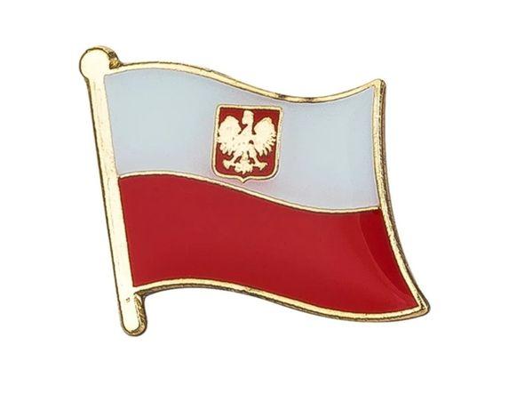 FLAGA POLSKI znaczek przypinka
