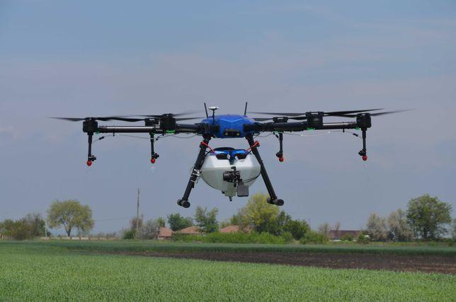 Внесение СЗР с помощью дронов, обработка полей, садов и виноградников
